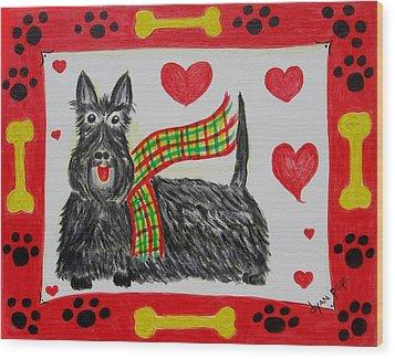 Little Lassie Wood Print