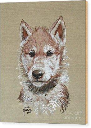 Little Lobo Wood Print