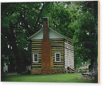 Little Log Cabin Wood Print by James C Thomas