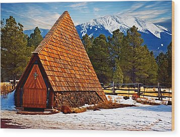 Little Mountain Church Wood Print by Bob Pardue