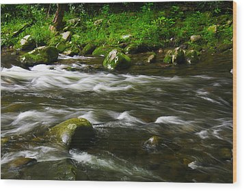 Little Piegon River Gatlinburg Tennessee Wood Print by Jerome Lynch