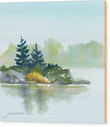 Little Pine Point Wood Print by Joan A Hamilton