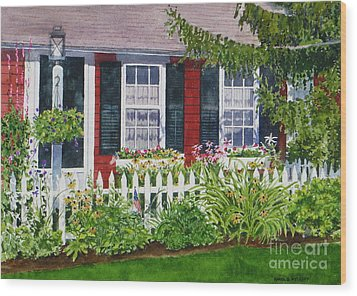 Little Red Cottage Wood Print by Karol Wyckoff