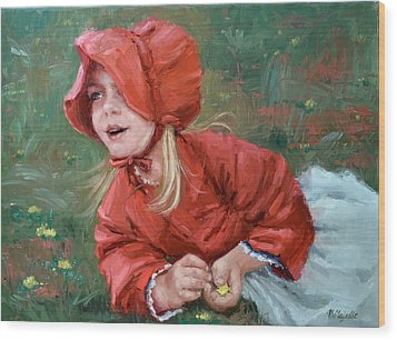 Little Red Ridinghood  Wood Print