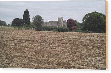 Little Rissington Church 2 Wood Print by John Williams