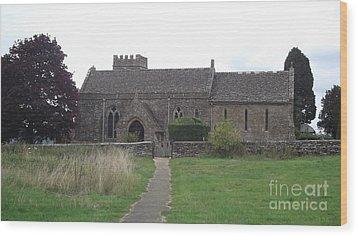 Little Rissington Church Wood Print by John Williams