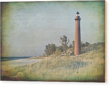 Little Sable Lighthouse Wood Print by Leo Cumings