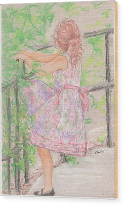 Little Sister Wood Print by Kathy Keith