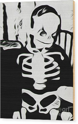 Little Skeleton Wood Print by Gregory Dyer