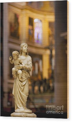 Little Statue Wood Print by Brian Jannsen