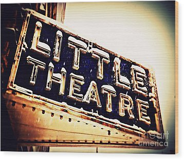 Little Theatre Retro Wood Print by James Aiken