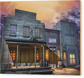 Little Town Wood Print by Joel Payne