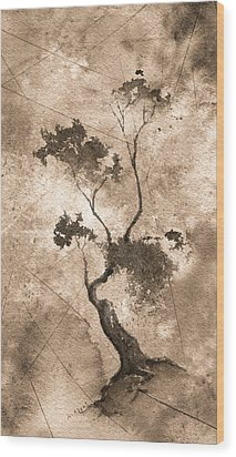 Little Zen Tree 873 Altered Wood Print by Sean Seal