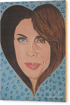 Liv And Steven Tyler Painting Wood Print by Jeepee Aero