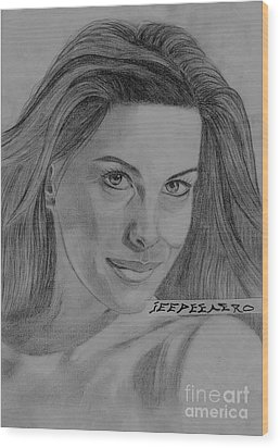 Wood Print featuring the drawing Liv Tyler by Jeepee Aero