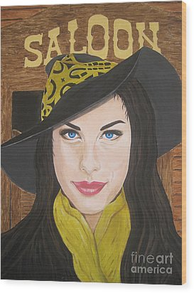 Wood Print featuring the painting Liv Tyler Painting by Jeepee Aero