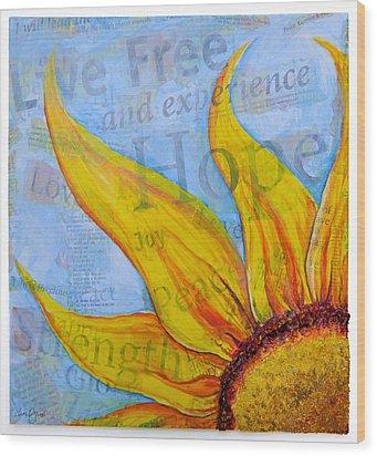 Live Free Wood Print