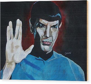 Live Long And Prosper Wood Print by Jeremy Moore