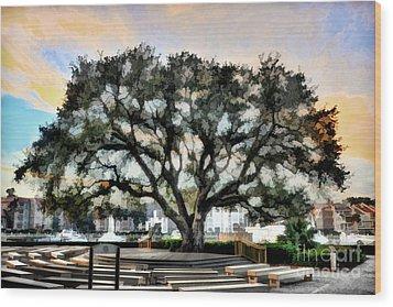 Live Oak Artistic Trendering Wood Print by Dan Friend