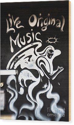 Live Original Music Wood Print by John Rizzuto