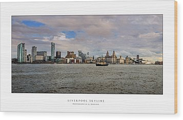 Liverpool Skyline Wood Print