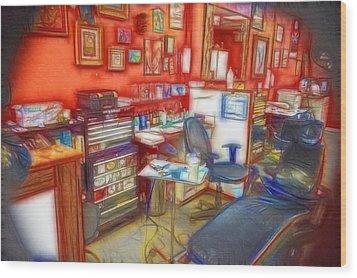 Living Canvas Wood Print by Cindy Nunn