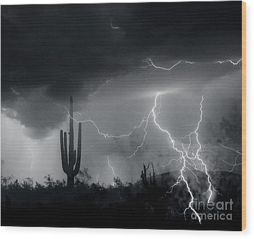 Wood Print featuring the photograph Living In Fear by J L Woody Wooden