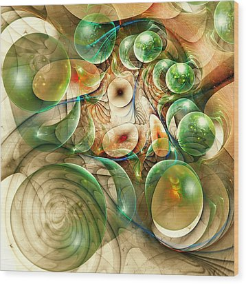 Living Organisms Wood Print by Anastasiya Malakhova