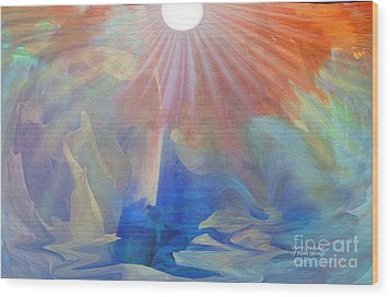 Living Under The Umbrella Of Light Wood Print by Sherri's Of Palm Springs