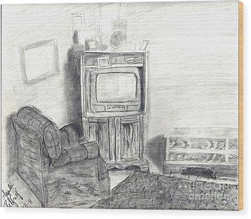 Livingroom Wood Print by Angela Pelfrey