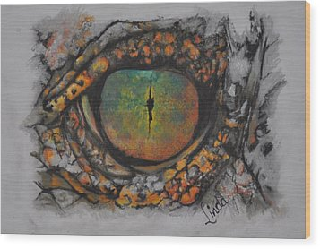 Lizards Eye Wood Print