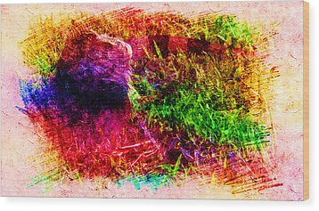 Lizard In Abstract Wood Print