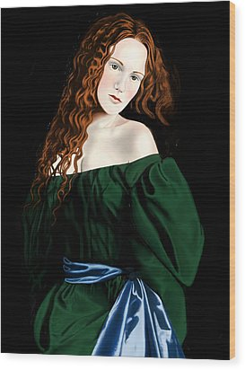 Lizzie Siddal Wood Print by Andrew Harrison