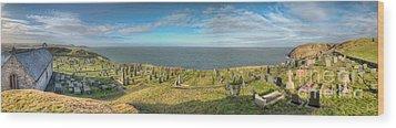 Llanbadrig Church Panorama Wood Print by Adrian Evans