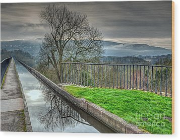 Llangollen Canal  Wood Print by Adrian Evans