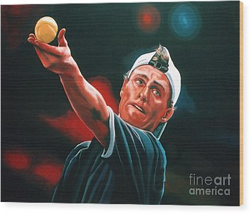 Lleyton Hewitt 2  Wood Print by Paul Meijering