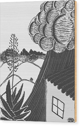 Wood Print featuring the drawing Lluvia by Aurora Levins Morales