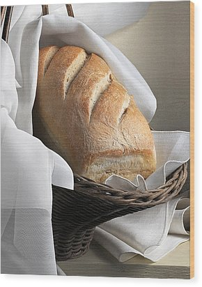Loaf Of Bread Wood Print by Krasimir Tolev