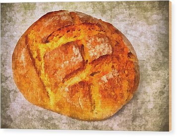 Loaf Of Bread Wood Print by Matthias Hauser