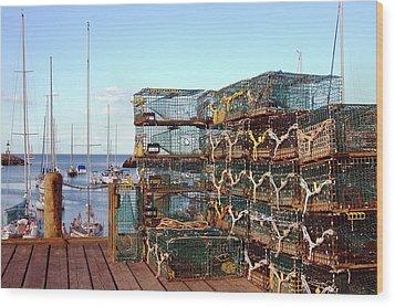 Lobstah Traps Wood Print by Joann Vitali