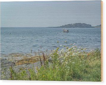 Wood Print featuring the photograph Lobster Boat At Rest by Jane Luxton