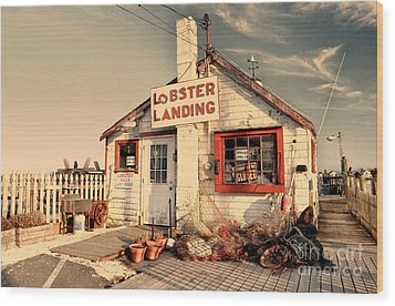 Lobster Landing Clinton Connecticut Wood Print