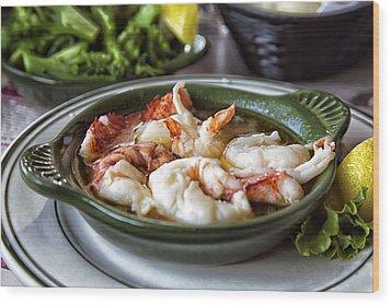 Lobster Saute Wood Print