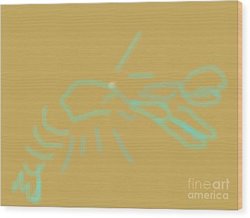 Lobster Spirit Wood Print by James Eye