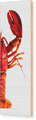 Lobster - The Right Side Wood Print by Sharon Cummings