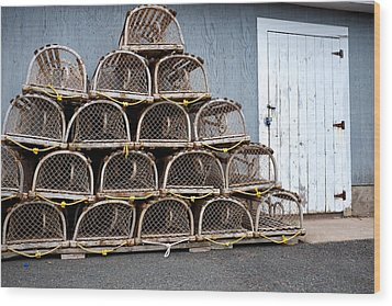 Wood Print featuring the photograph Lobster Traps by Trever Miller