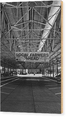 Local Farmers Wood Print by Mark Alder