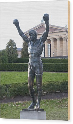 Local Hero - Rocky Wood Print by Bill Cannon
