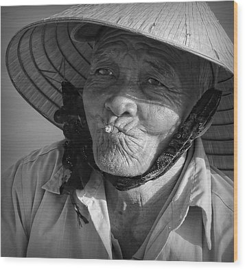 Wood Print featuring the photograph Local River Man by Kim Andelkovic