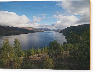 Wood Print featuring the photograph Loch Carron by Stephen Taylor